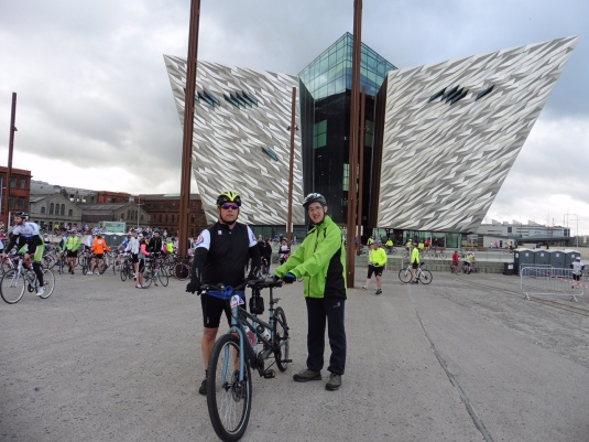 Martin Robb and Malcolm McRoberts who took part in the Gran Fondo