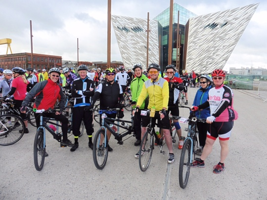 The Lisburn Outlook Team who took part in the Gran Fondo